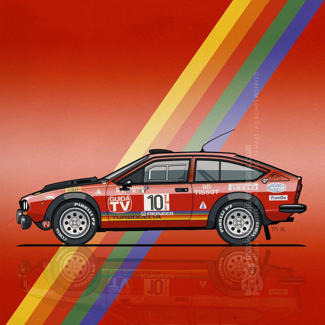 Alfa Romeo Alfetta GTV 2000 Turbodelta FIA Group 4 –