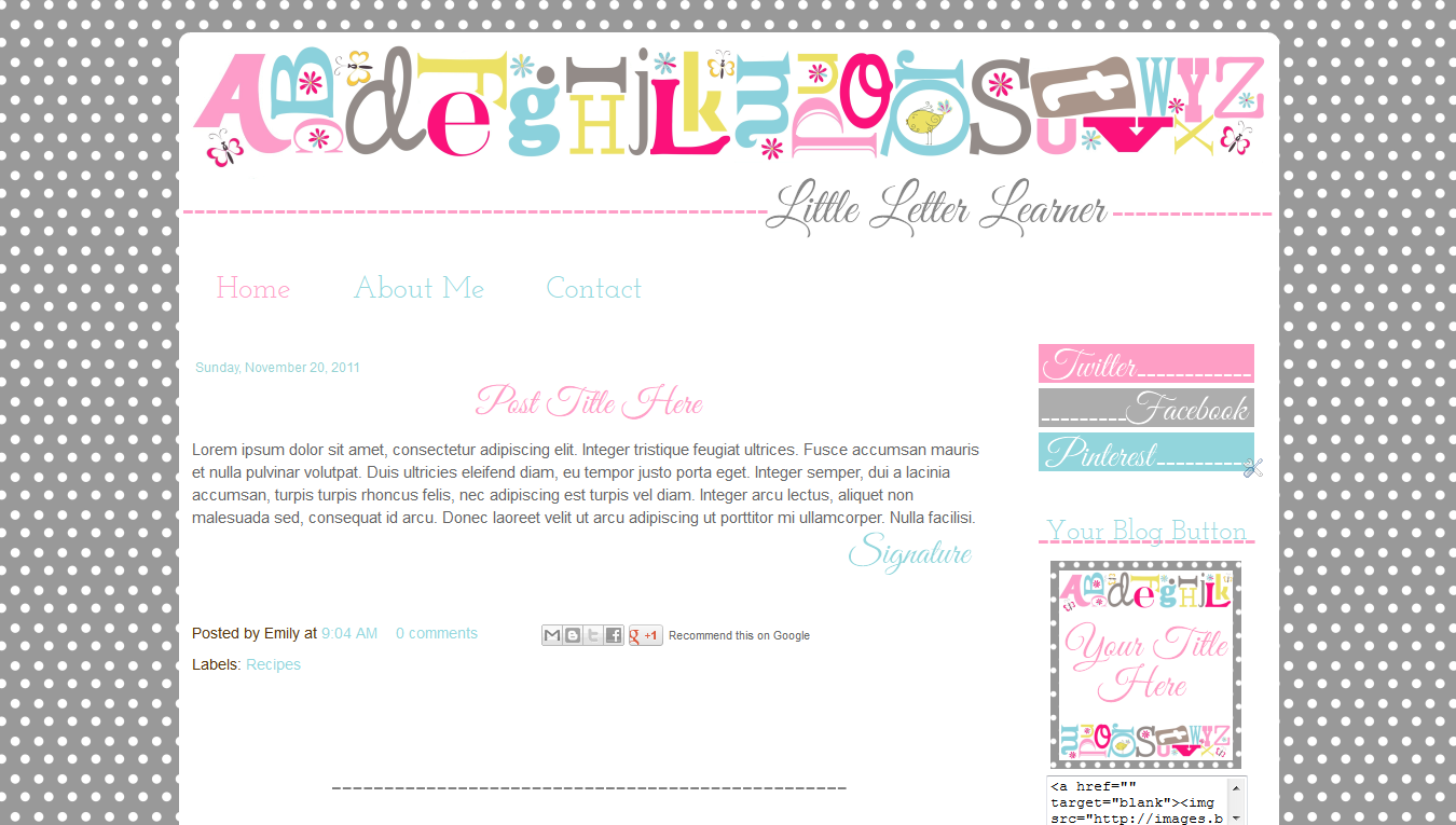 cute teacher resumes cute blog templates for teachers grey pink