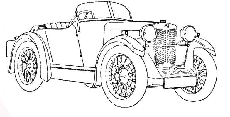 Auto epoca 6 disegni da colorare per adulti e ragazzi - Profili auto per colorare ...