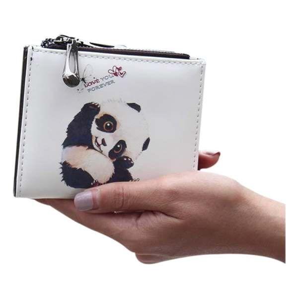 beau new women printing wallets short women purse zipper closed coin