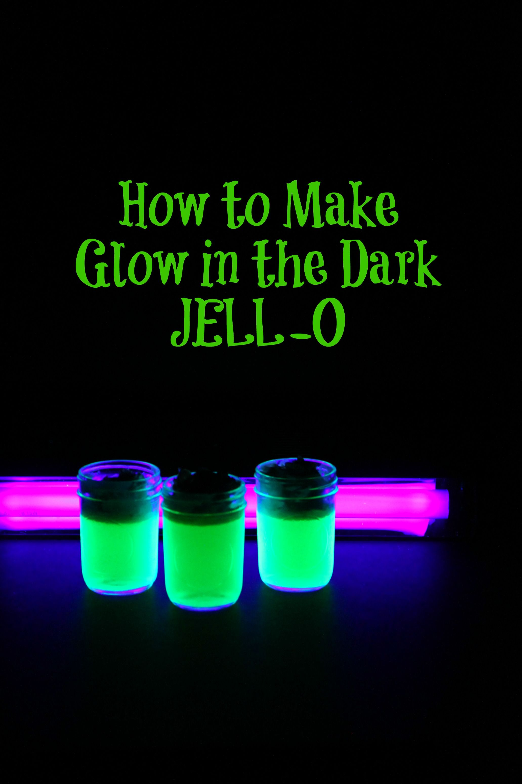 Glow in the Dark JELLO Recipe Dark Tonic water and Black light