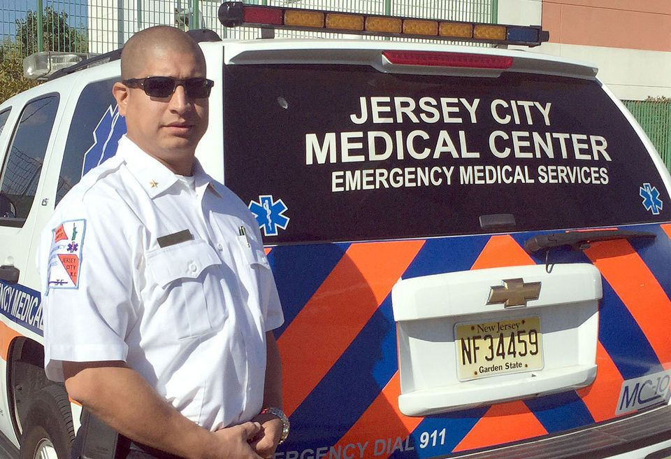 JERSEY CITY EMS SUPERVISOR WAS FIRST ON FIRE SCENE, HAILED