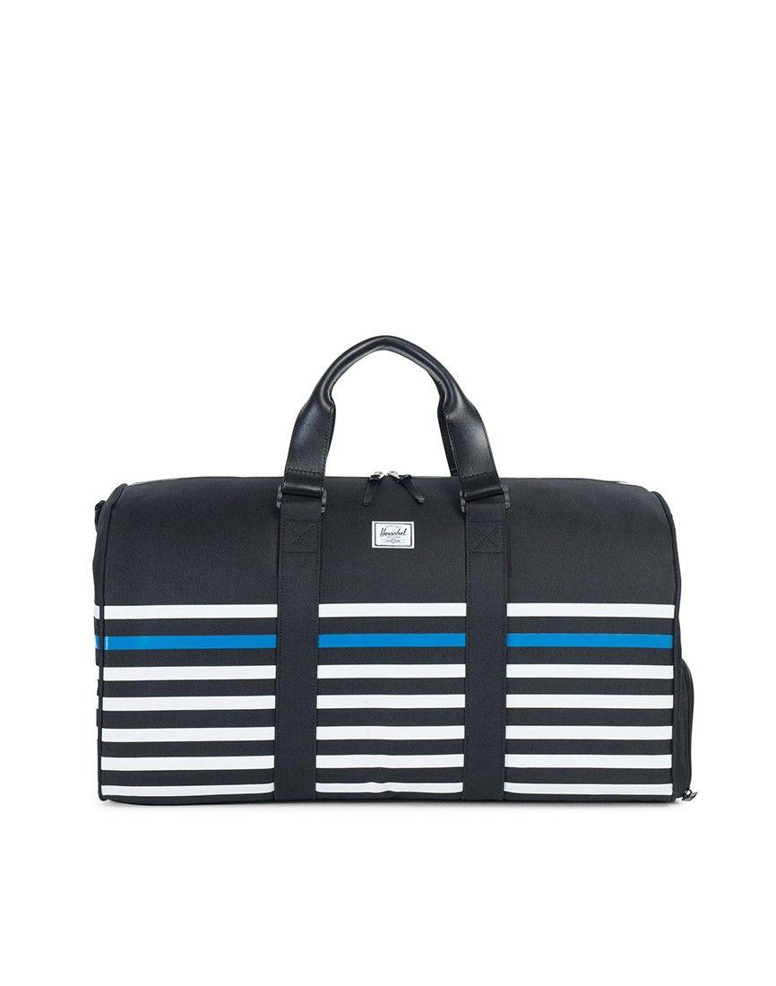 63b46ef0e359 Herschel Novel Duffle Bag Black Stripe