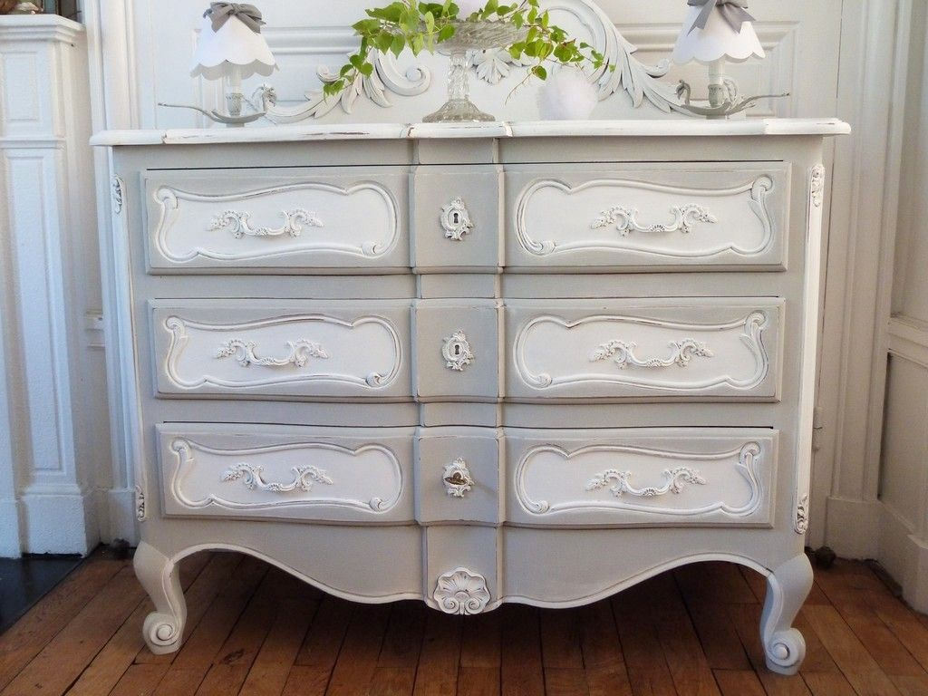 Commode louis xv en deux tons meubles patin s relookes ou pas mobilier de salon for Mobilier decoration maison