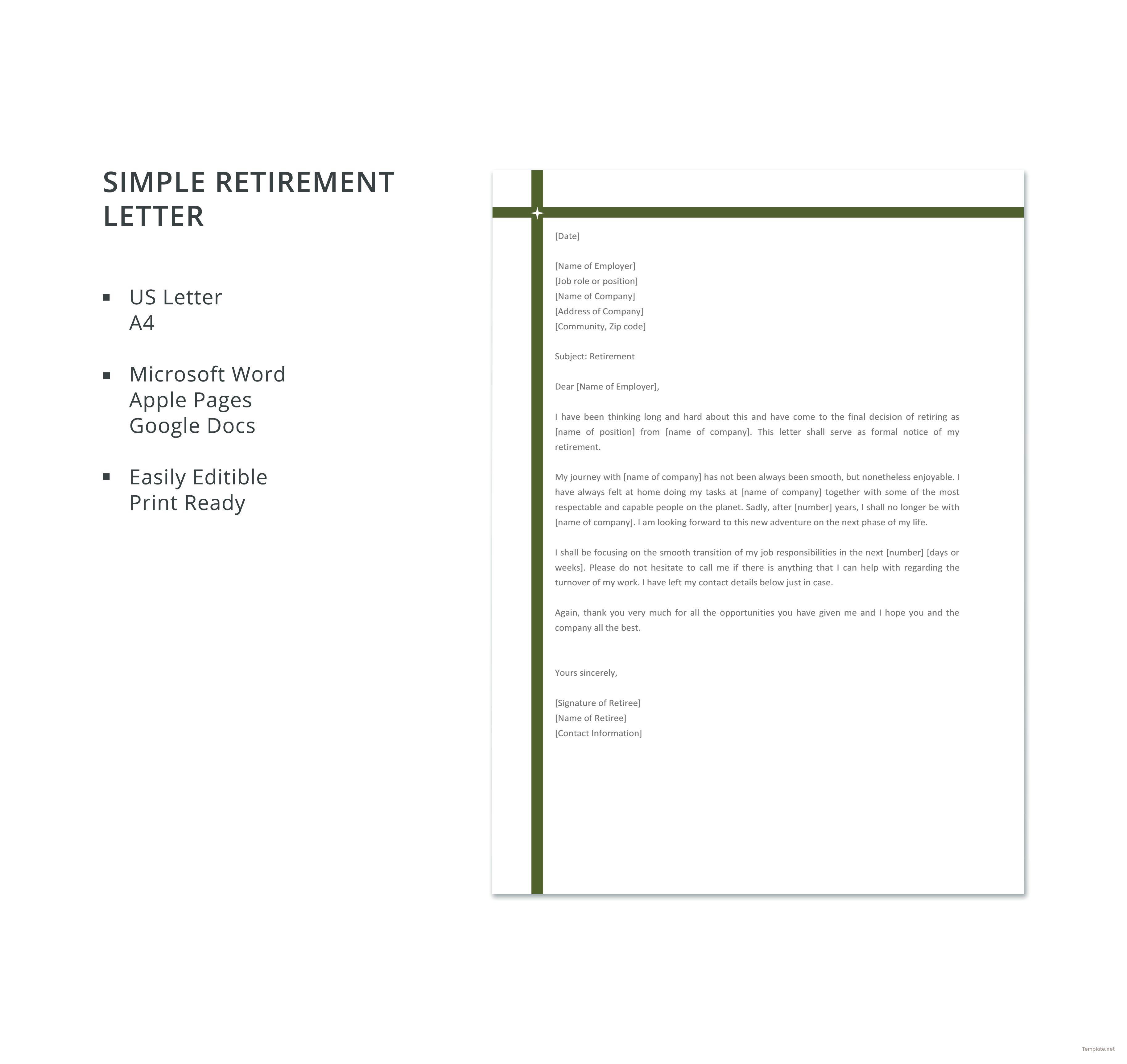 free simple retirement letter resignation blank cv template download cna resume description good opening statement for