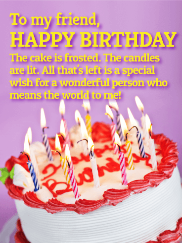 You Mean The World To Me Happy Birthday Wishes Card For Friends Birthday Greeting Cards By Davia Happy Birthday Wallpaper Happy Birthday Fun Happy Birthday Wishes Cards