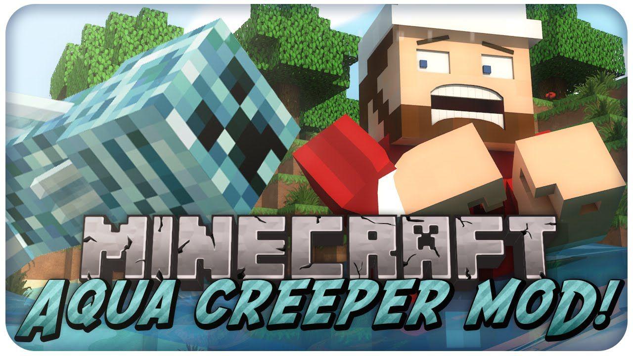 Minecraft Mod Showcase Aqua Creeper Mod Review Minecraft Mods Minecraft Minecraft Videos
