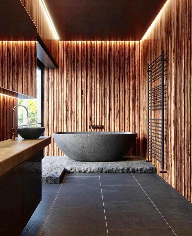 Design Salle De Bains Ardoise Et Bois