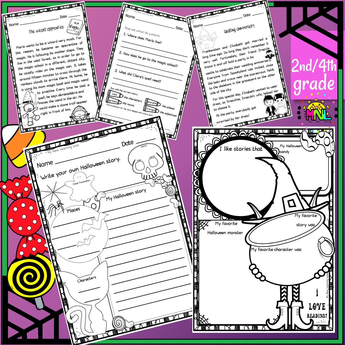 Halloween Reading Comprehension Passages Short Stories Halloween Reading Comprehension Reading Comprehension Passages Halloween Reading [ 1134 x 1134 Pixel ]
