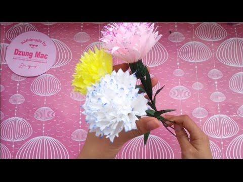 Carnation Paper Flowers Tutorial Hướng Dẫn Lam Hoa Cẩm Chướng Bằng