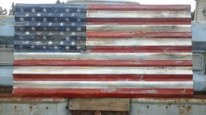 Rustic American Flag - Sa... - Ford Country | Scott's Marketplace