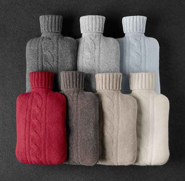 Cashmere-wrapped Hot Water Bottle!