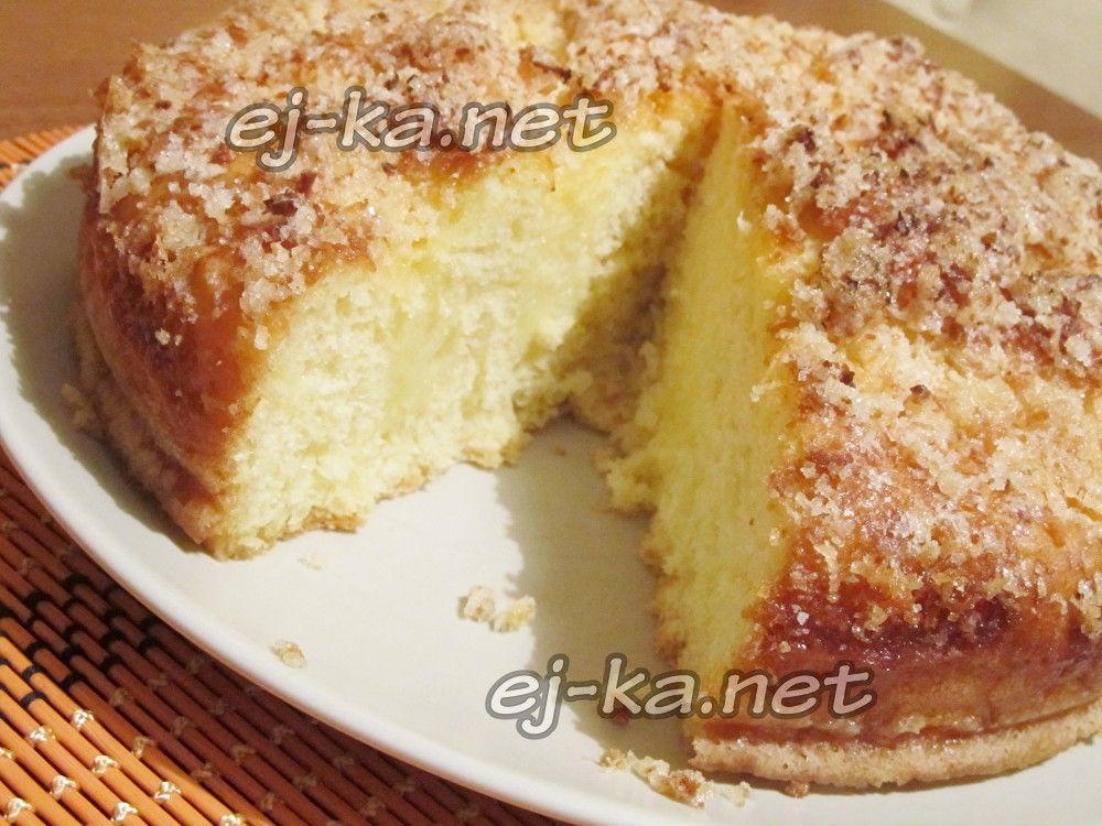 сладкий пирог к чаю на сметане