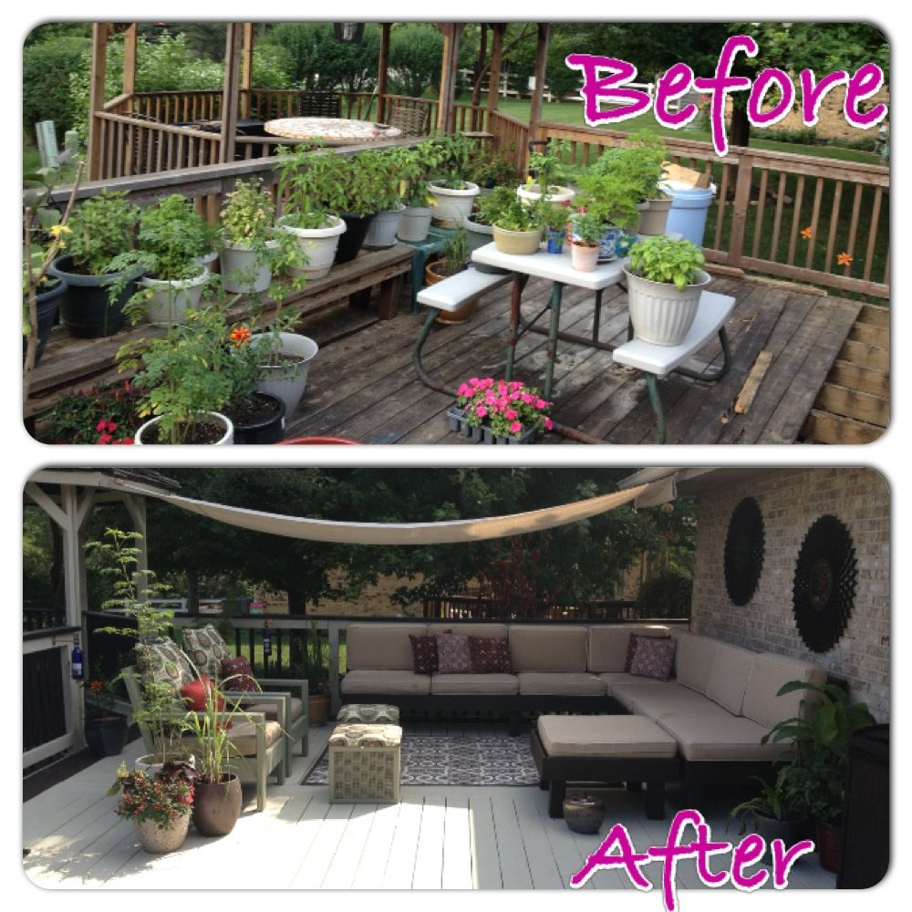 DIY outdoor living area on a very lil, nonexistent budget ... on My Backyard Living id=83294