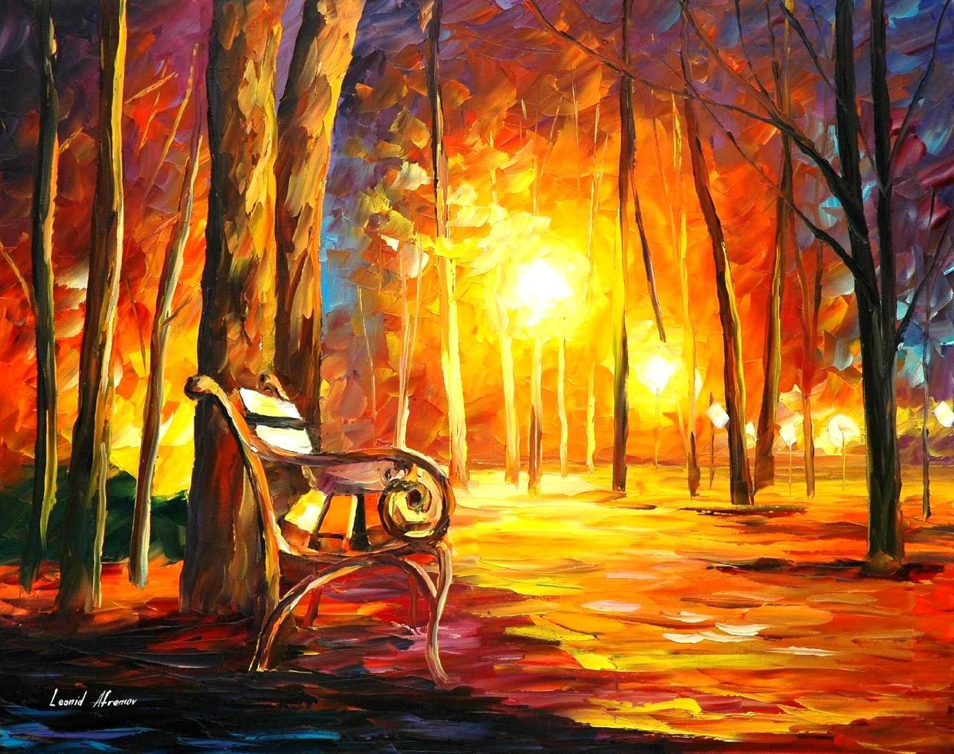 emotions palette knife oil painting on canvas by leonid afremov httpafremov - Oil Painting