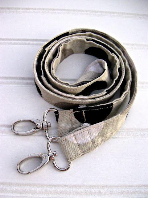 DIY long thin strap (use for purses, dog leash)