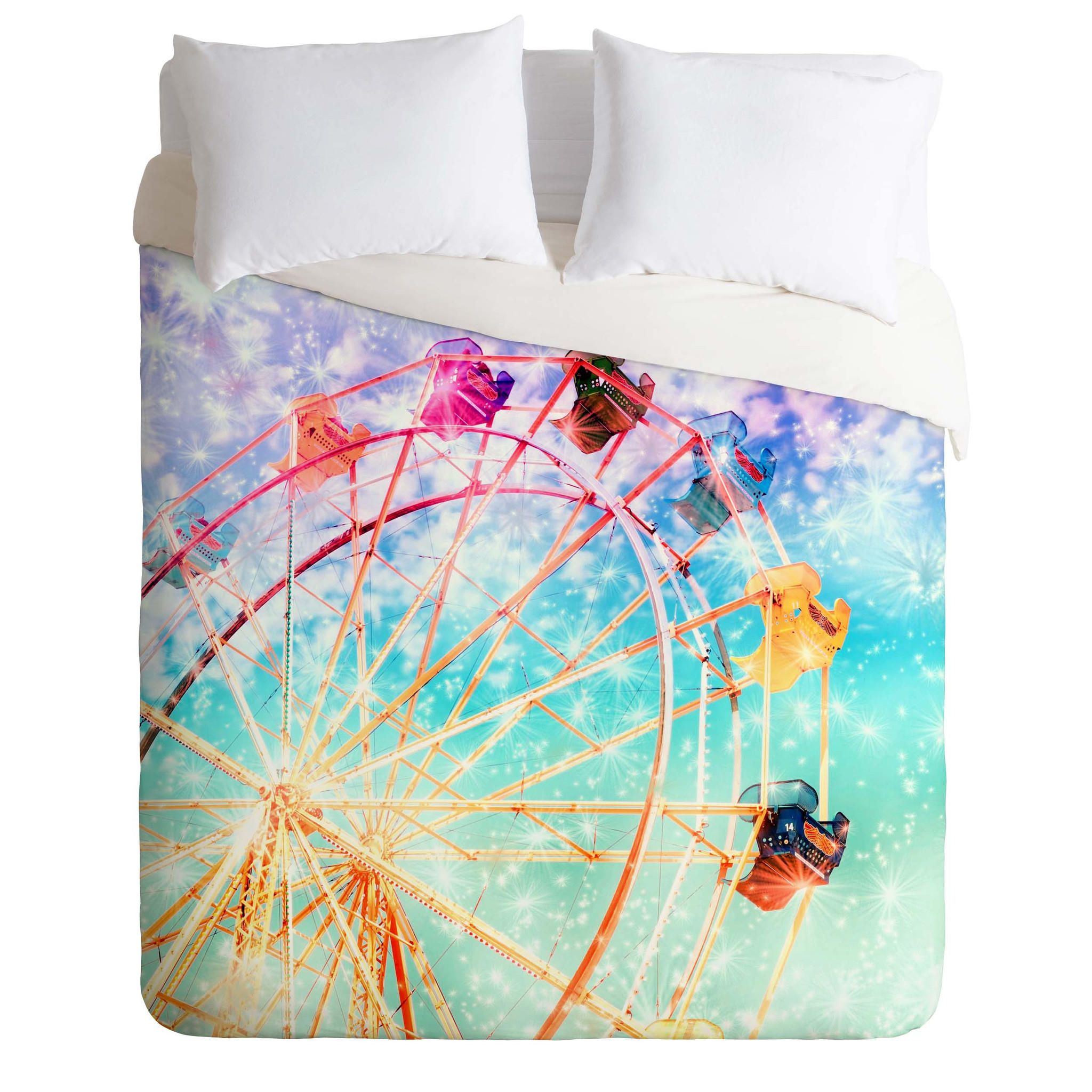 Lisa Argyropoulos Galaxy Wheel Duvet Cover from DENY Designs. Saved to DENY Designs Products. #beautiful #farriswheel #wantwantwant #dorm #home #cool #bedding #decor.
