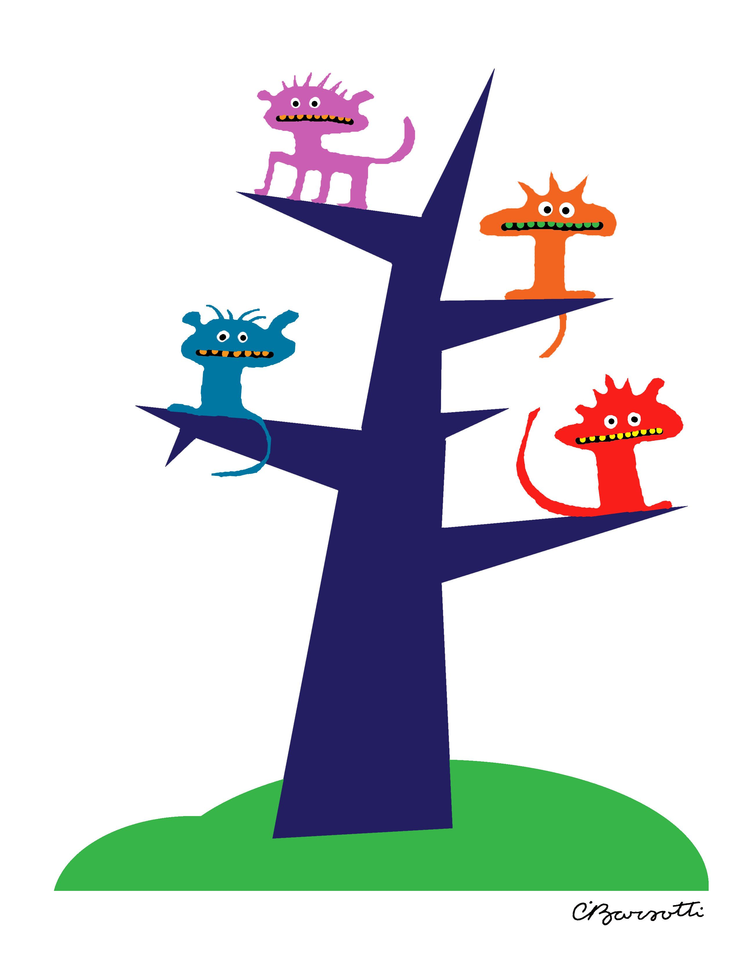 Critters in a tree. Cartoon Logos, Cartoon, Games