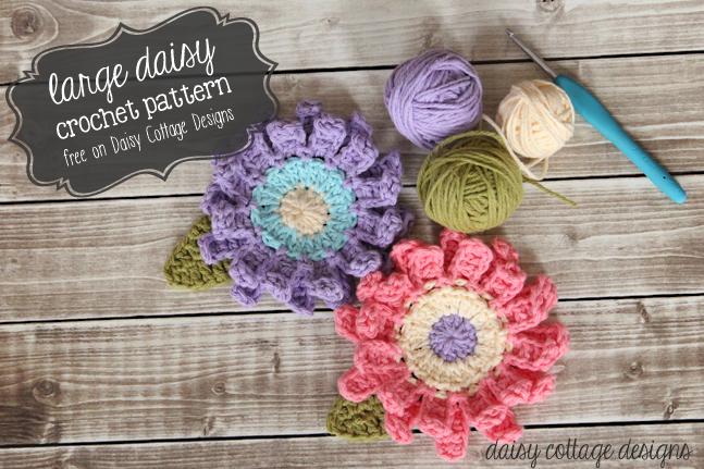 Large Flower Crochet Pattern Crochet Patterns Pinterest Flower