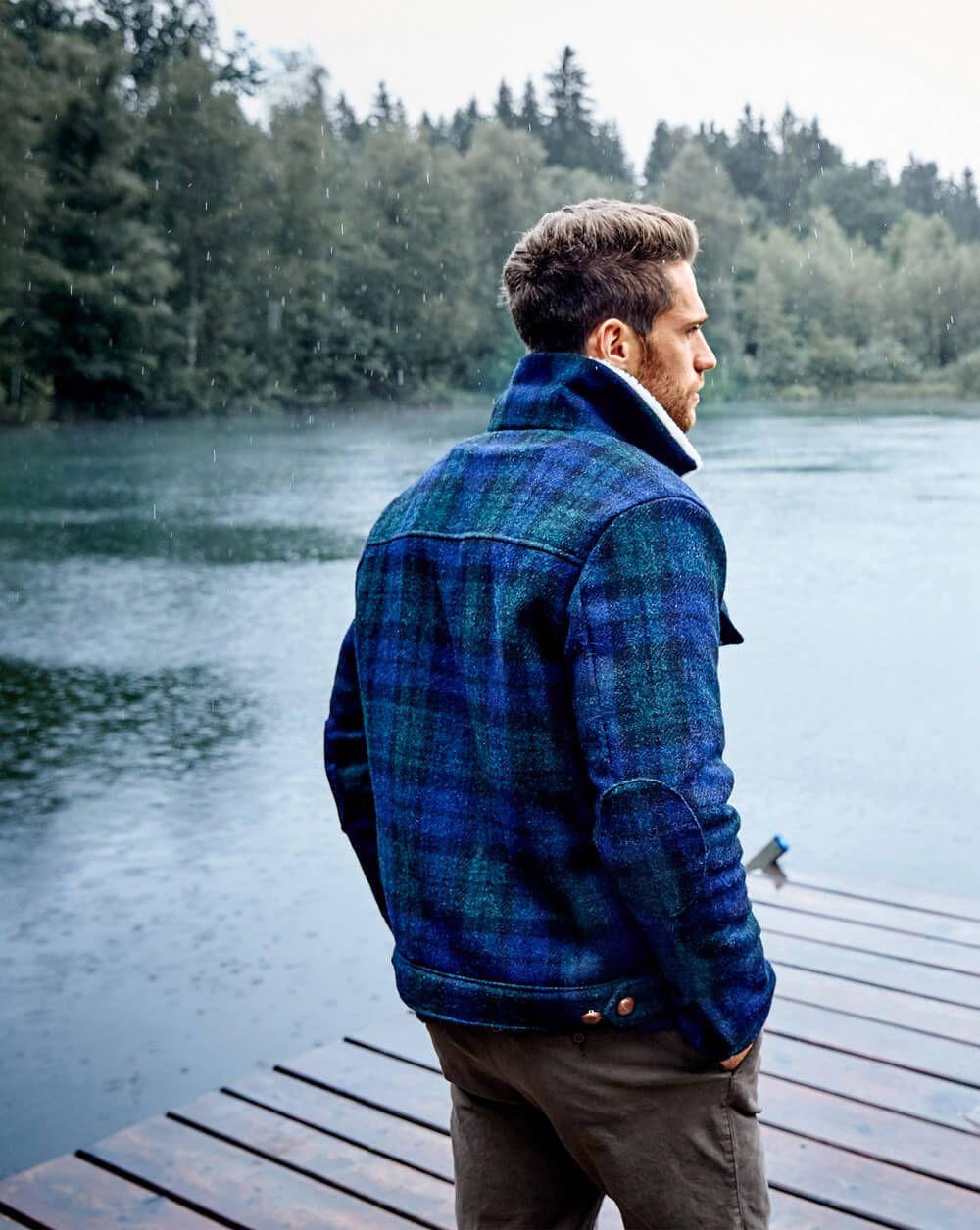 Schnittmuster Karotweed-Jacke für Herren 12/2017 #122B ...