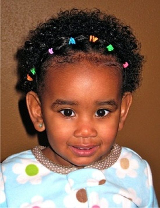 Curly Hairstyle For Toddler : Children short curly hairstyles black