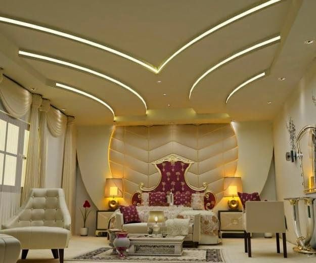 a beautiful false ceiling design was totally made of gypsum board