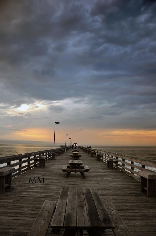 A Beautiful View Of The Cherry Grove Pier In North Myrtle