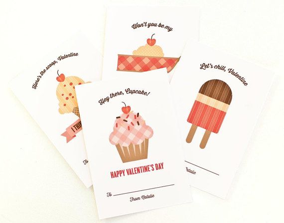 Personalized Children's Valentine Cards Kids by PeraPress on Etsy, $12.00