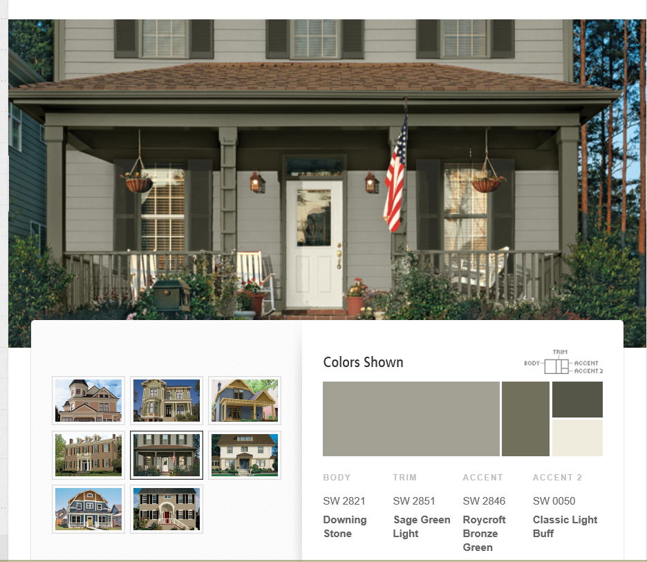 House · Downing Stone Exterior Color Scheme