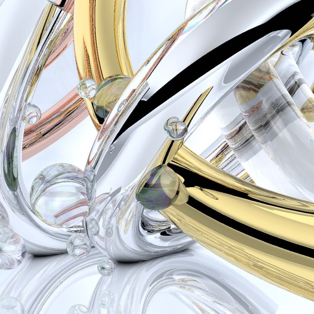 Metal n bubbles #c4d by luhardcastle