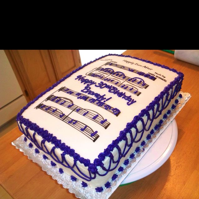 Sheet Music Cake- soooooo awesome!!! Favorite Things ...