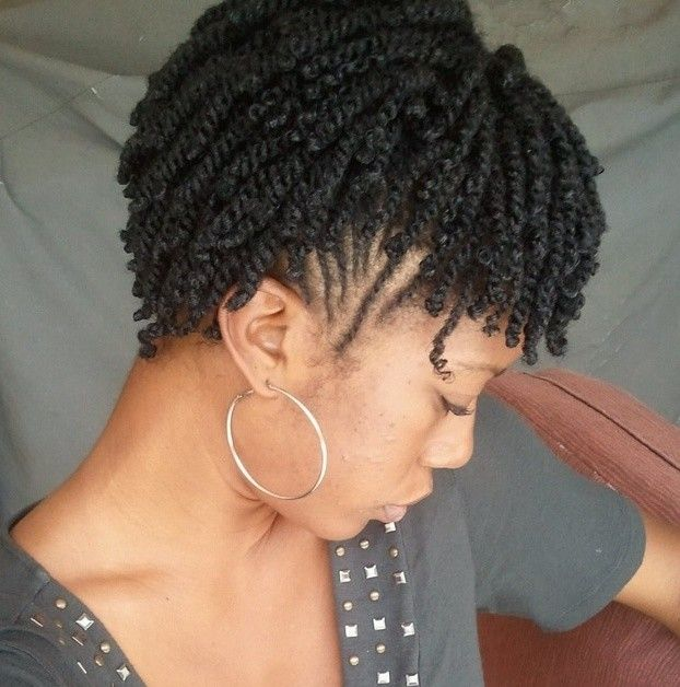 22 Cute Braiding Hairstyles for Short Natural Hair | Hair styling ...