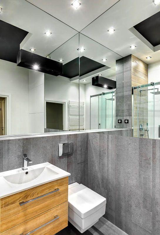 Lustra W Lazience Lazienka Styl Nowoczesny Aranzacja I Wystroj Wnetrz Lighted Bathroom Mirror Bathroom Mirror Bathroom