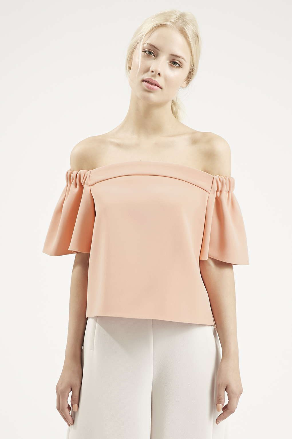 3888a6efe2e97 Structured Bardot Top - Topshop