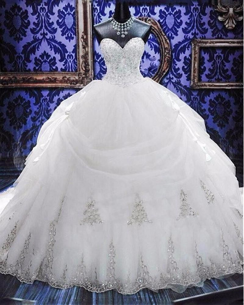Wedding dresses stores  Plus sized Beaded Ball Gown Wedding Dress at Bling Brides Bouquet