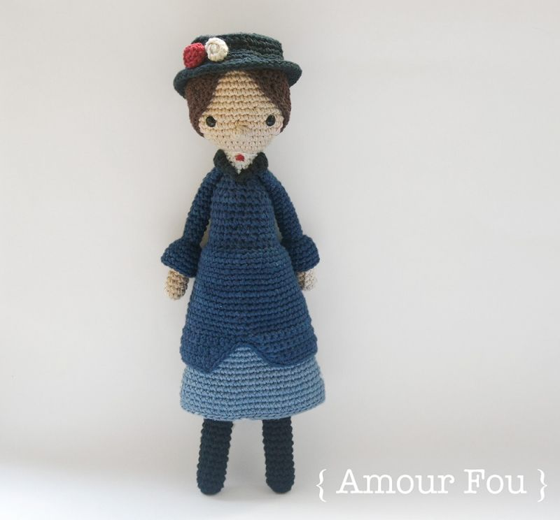 Mary Poppins amigurumi pattern by Amour Fou | Juguetes, Ganchillo y ...