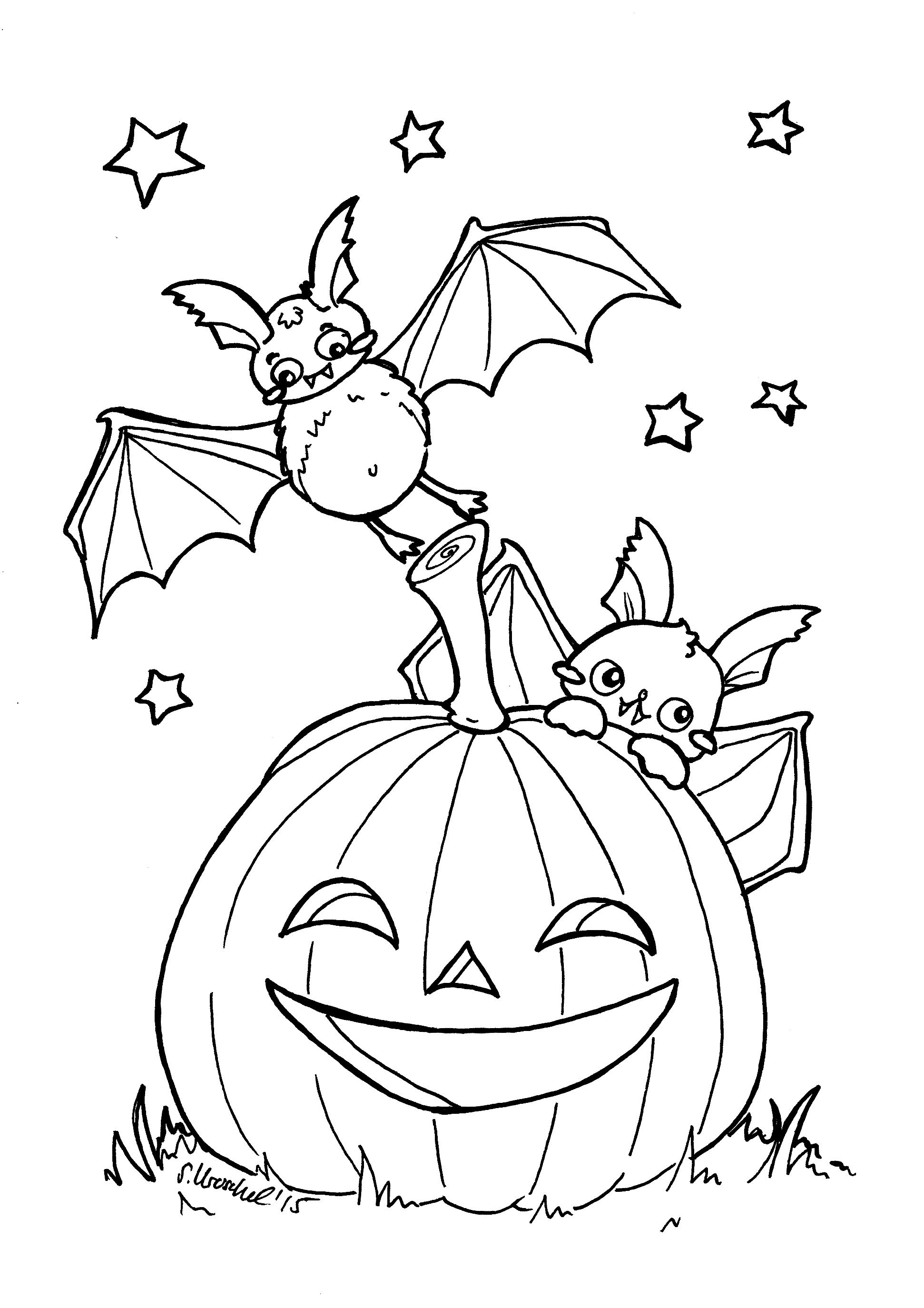 Ausmalbilder November zum Ausdrucken  #artwork #illustration #graphicdesign #printables #free #halloweencoloringpages