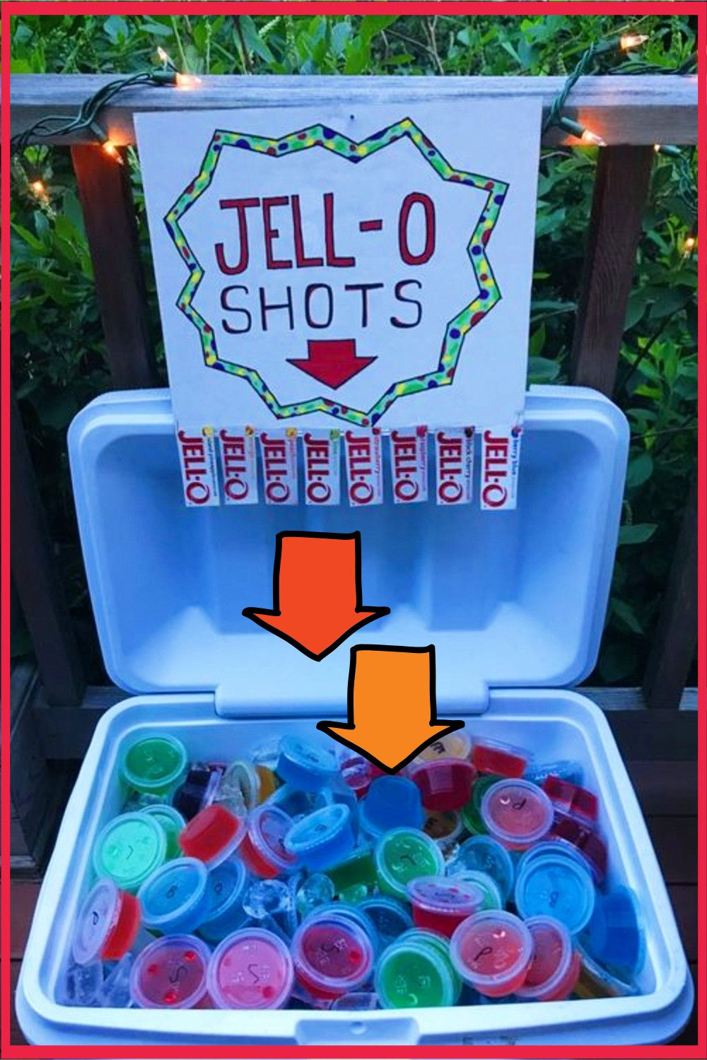 Labor Day Party Ideas - Fun Cookout Food and Drinks Recipes - BBQ Cookout food ideas - try this easy jello shots recipes to learn how to make jello shots in a cooler for a cookout party, pool party, beach party (spring break!) or any summer party.