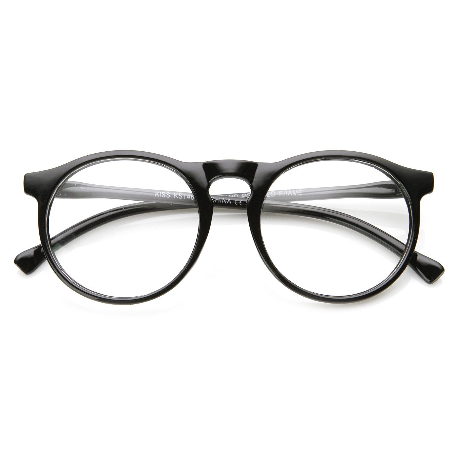 Indie Retro Round Clear Lens Fashion Glasses 8710 from zeroUV ...