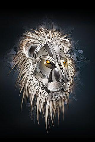 Mecha Lion Android Wallpapers Hd Lion Art Lion Wallpaper Animal Illustration