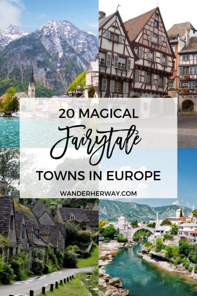 Magical Fairytale Towns in Europe #travelfrases