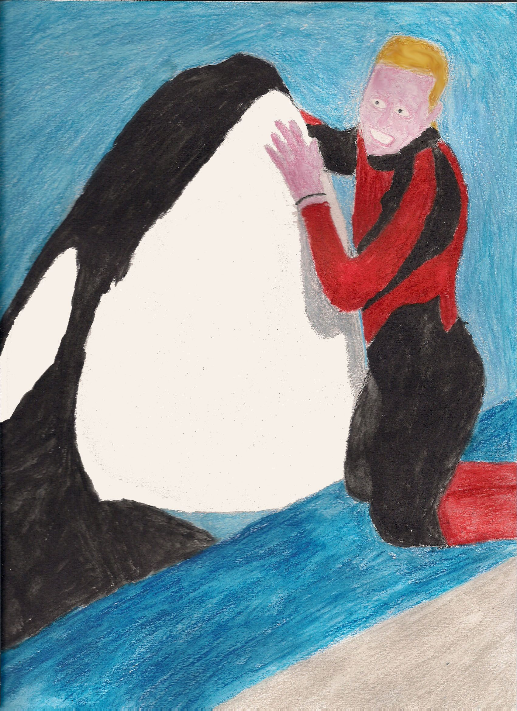 I drew this in memory of Dawn Brancheau, a trainer at SeaWorld Orlando who died on February 24, 2010.