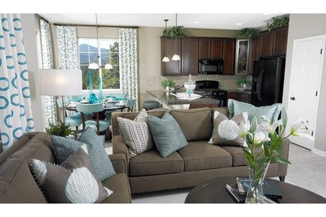 Taupe Color Sof Sky Blue Accents Sofa Living