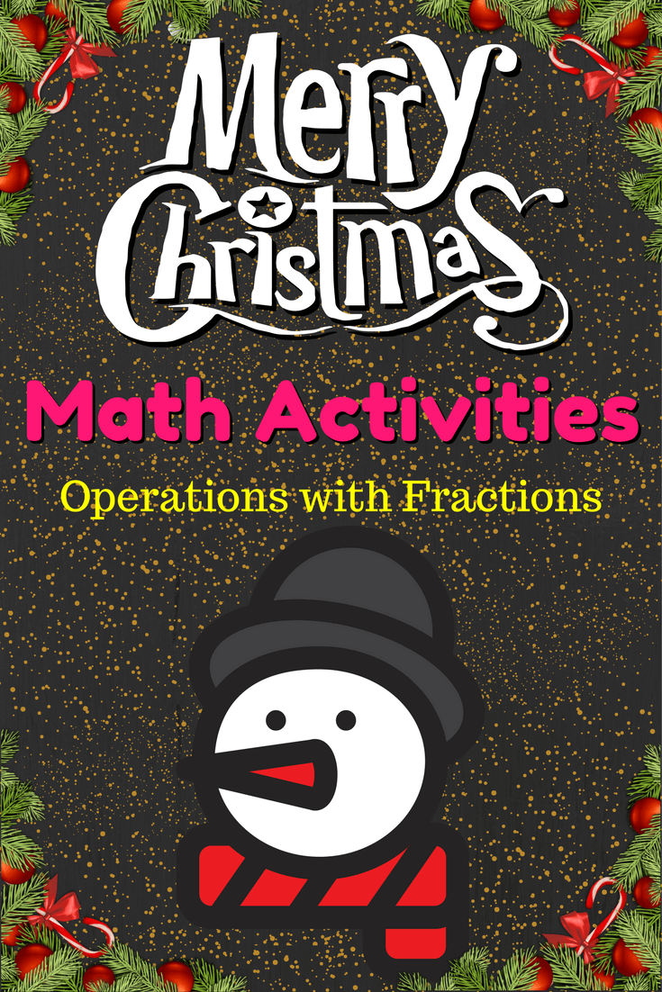 Free Prealgebra Christmas Activities Operations With Fractions Worksheet With Color M Christmas Math Activities Fractions Worksheets Christmas Math Worksheets [ 1102 x 735 Pixel ]