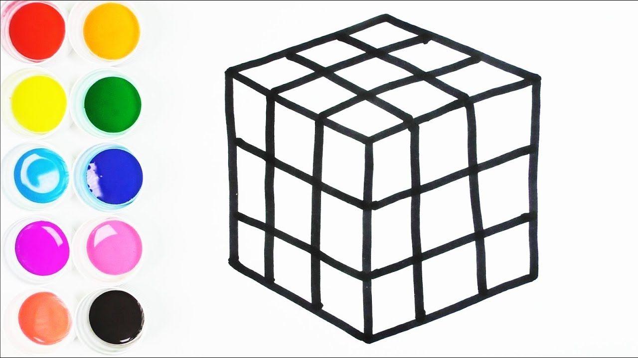 Como Dibujar Y Colorear Un Cubo Magico Arte Y Color Para Ninos Learn Colors Funkeep Youtube Dibujos De Colores Cubo Para Colorear Cubo Magico