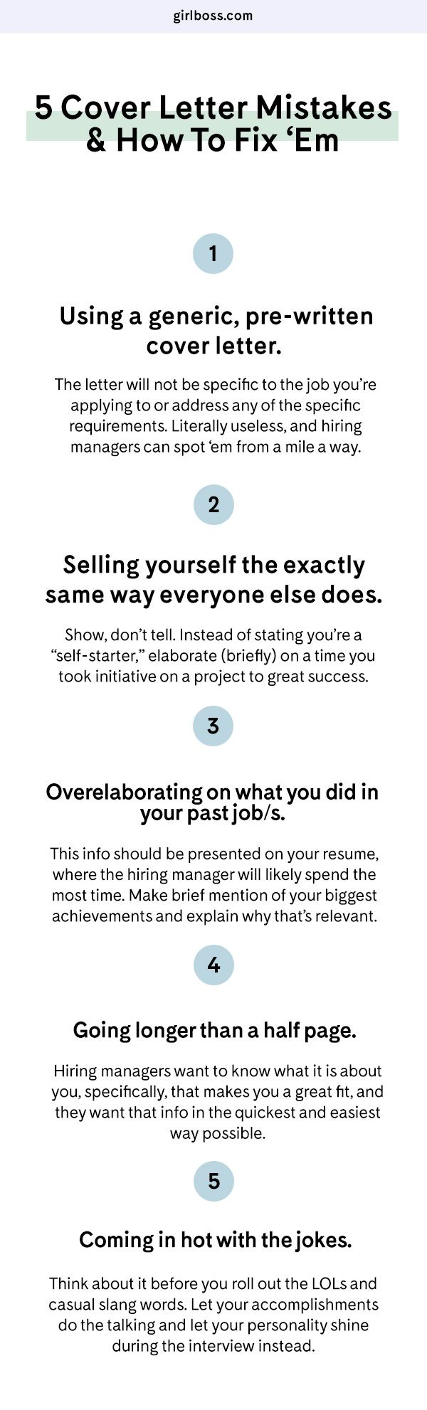 5 Cover Letter Mistakes You Might Be Making (And How To Fix U0027Em)