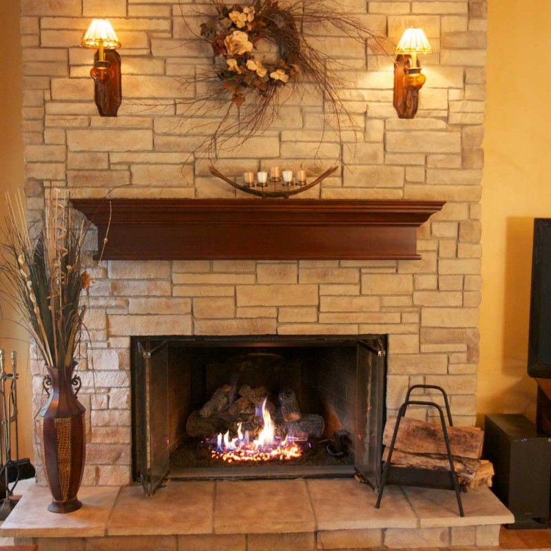 Stacked Rock Fireplace this stone style should be on your list of contenders for most any
