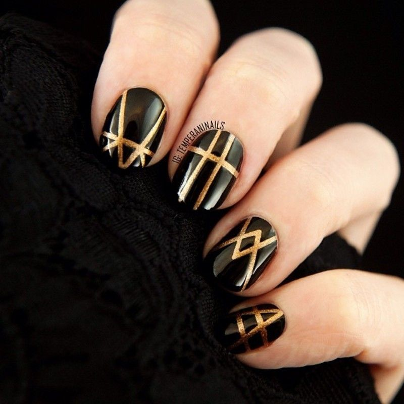 nail art gatsby inspired temperani