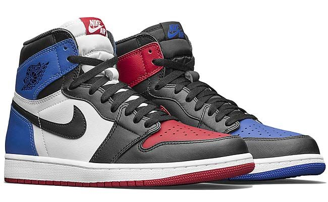 2cd0a68d8b0683 NIKE AIR JORDAN 1 RETRO HIGH OG TOP3  BLACK   VARSITY RED   VARSITY ROYAL   555088-026