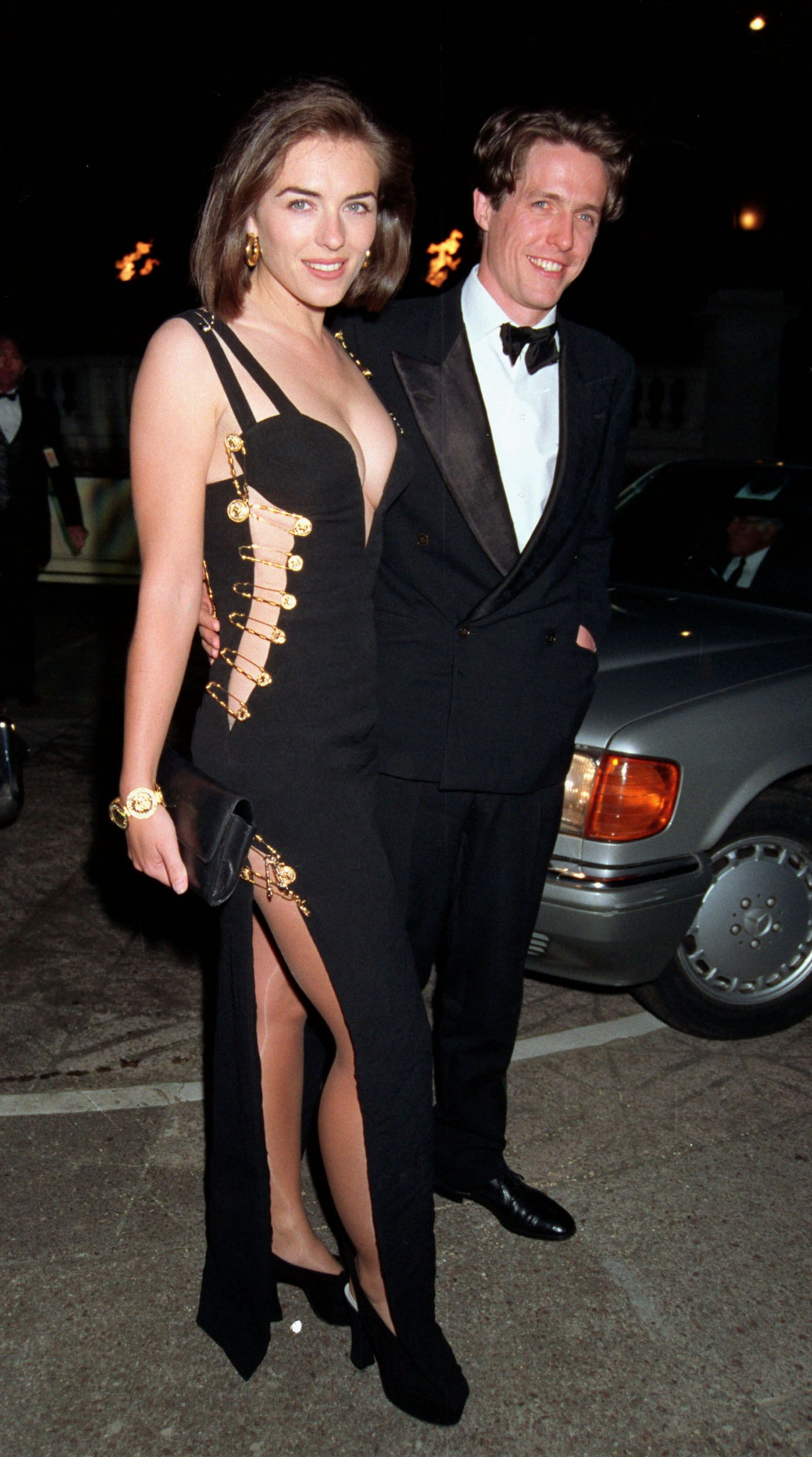 Elizabeth Hurley In The Iconic Versace Safety Pin Dress
